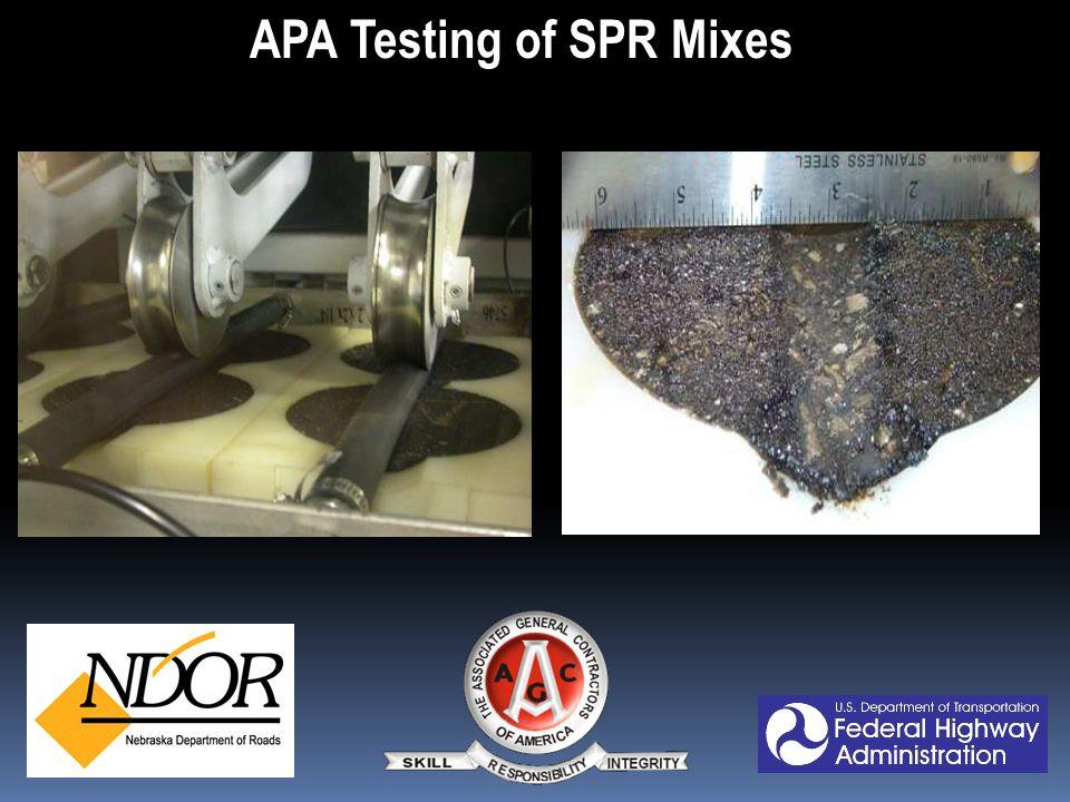 APA Testing of SPR Mixes