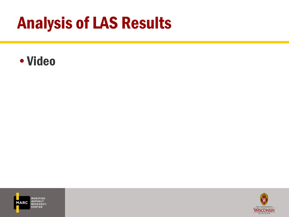Analysis of LAS Results Video
