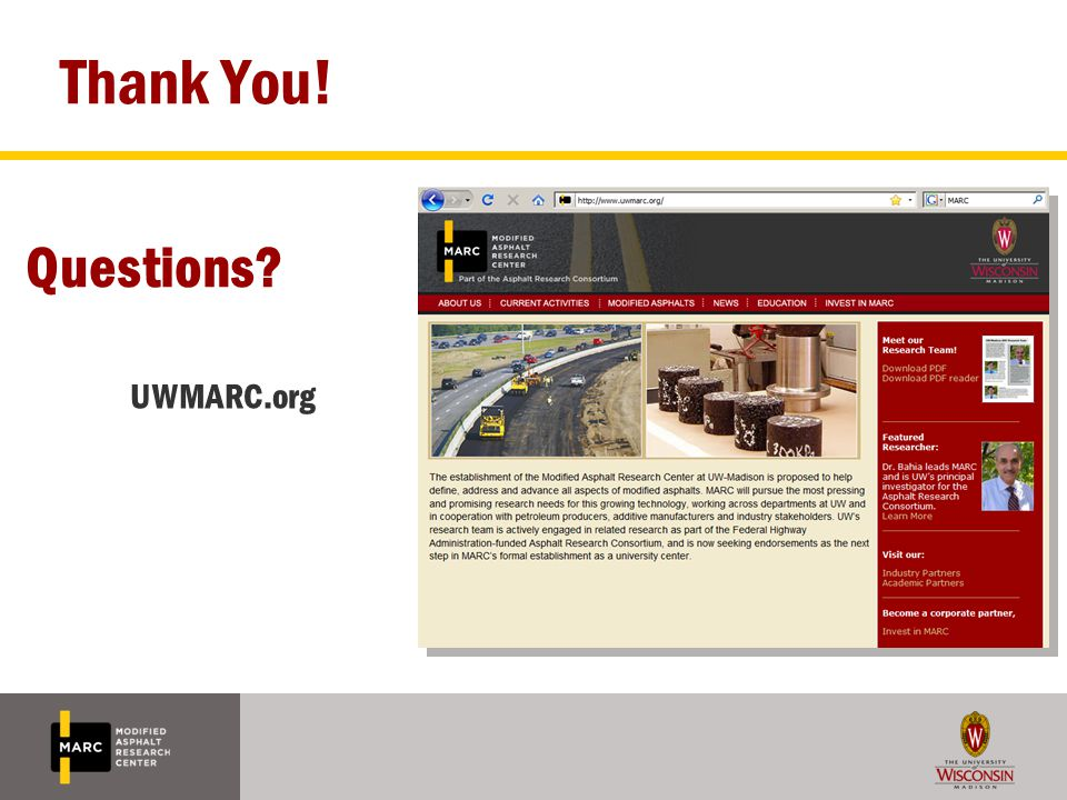 Thank You! UWMARC.org Questions?