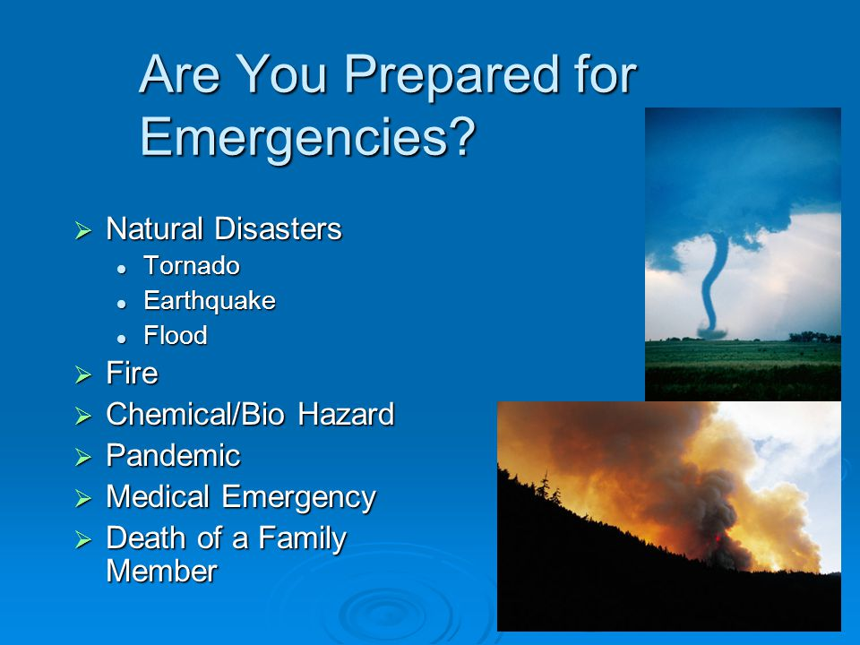 Are You Prepared for Emergencies.