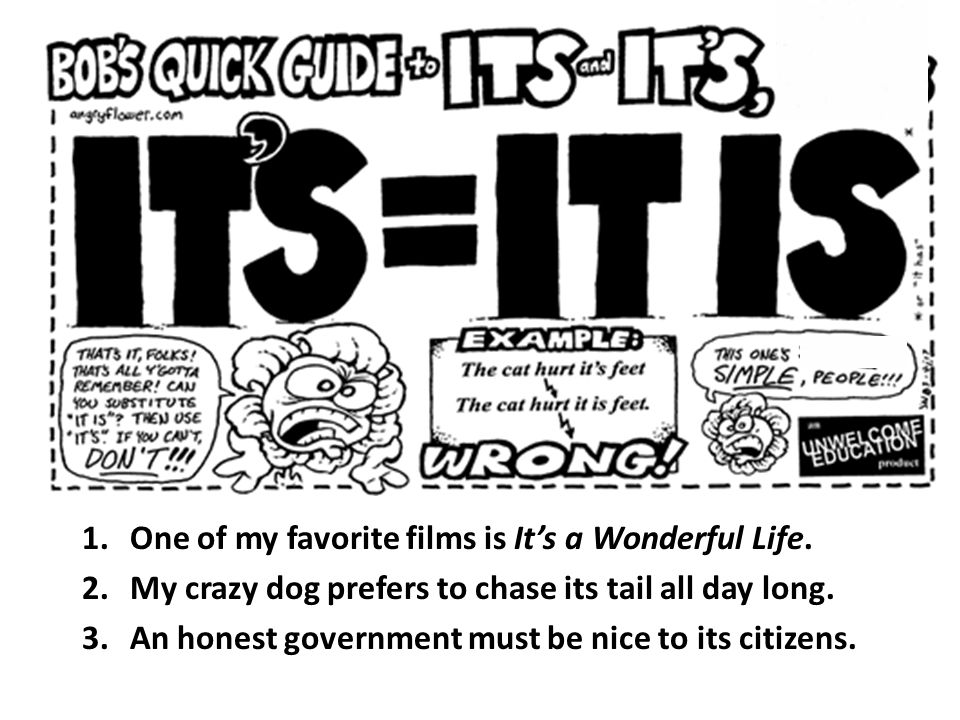 1.One of my favorite films is It's a Wonderful Life.