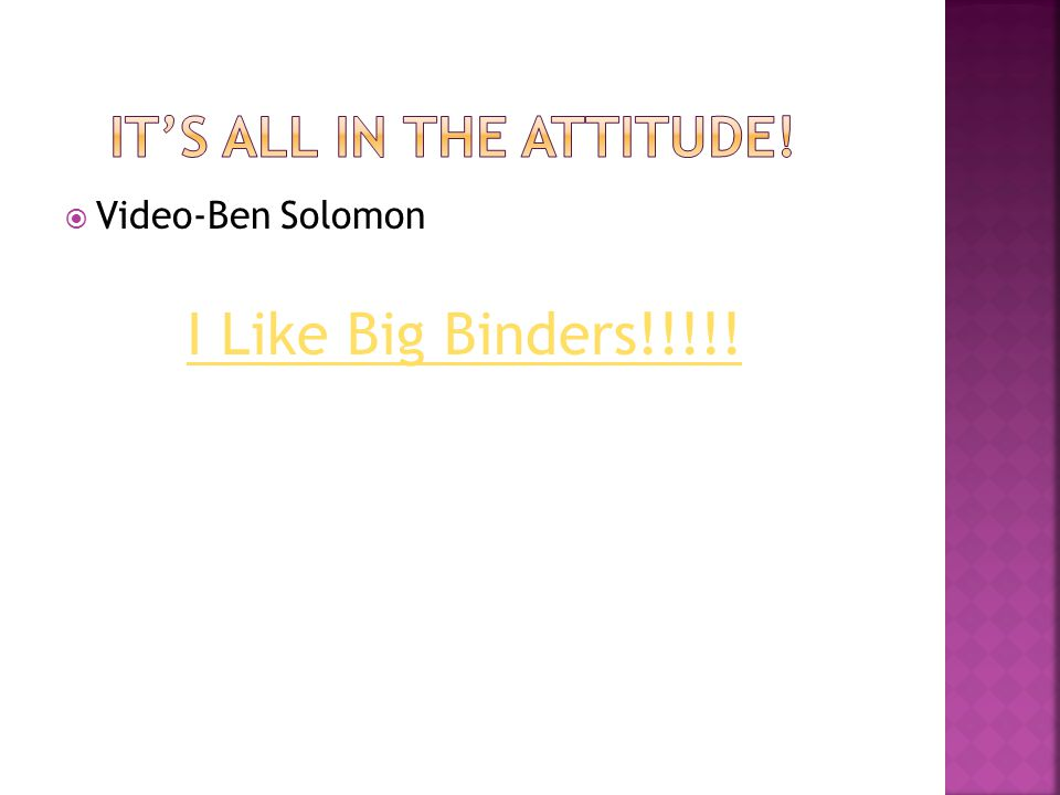  Video-Ben Solomon I Like Big Binders!!!!!