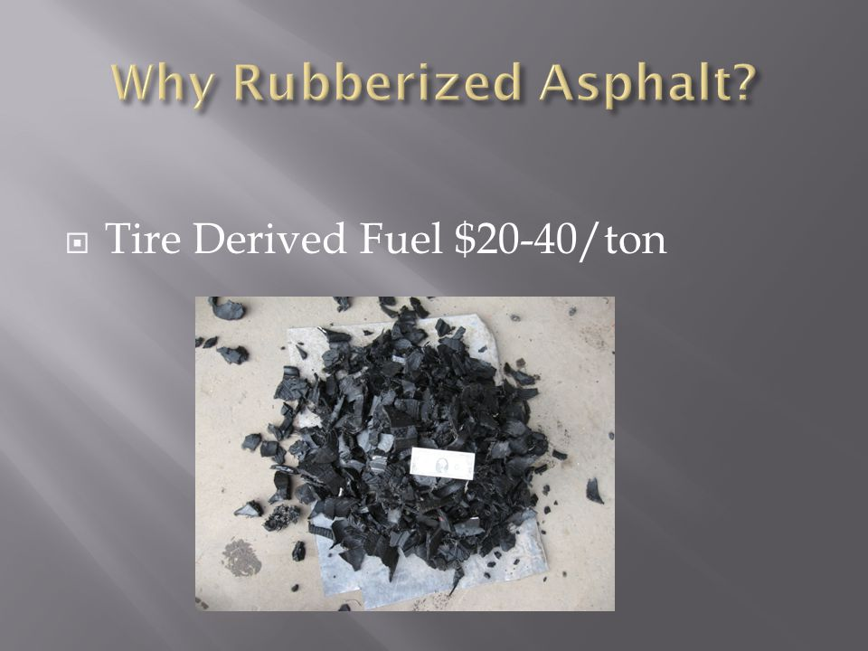  Tire Derived Fuel $20-40/ton