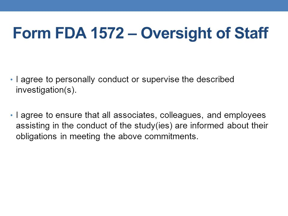 Should Sub-investigator be listed in Section #6 of FDA 1572.