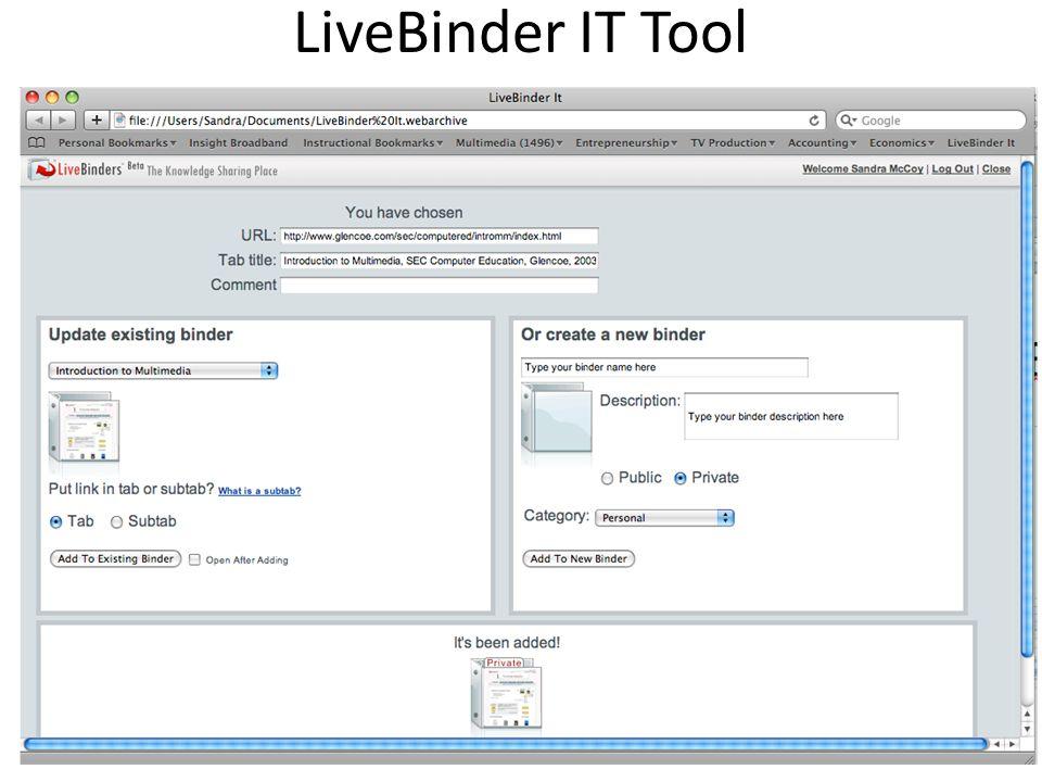 LiveBinder IT Tool