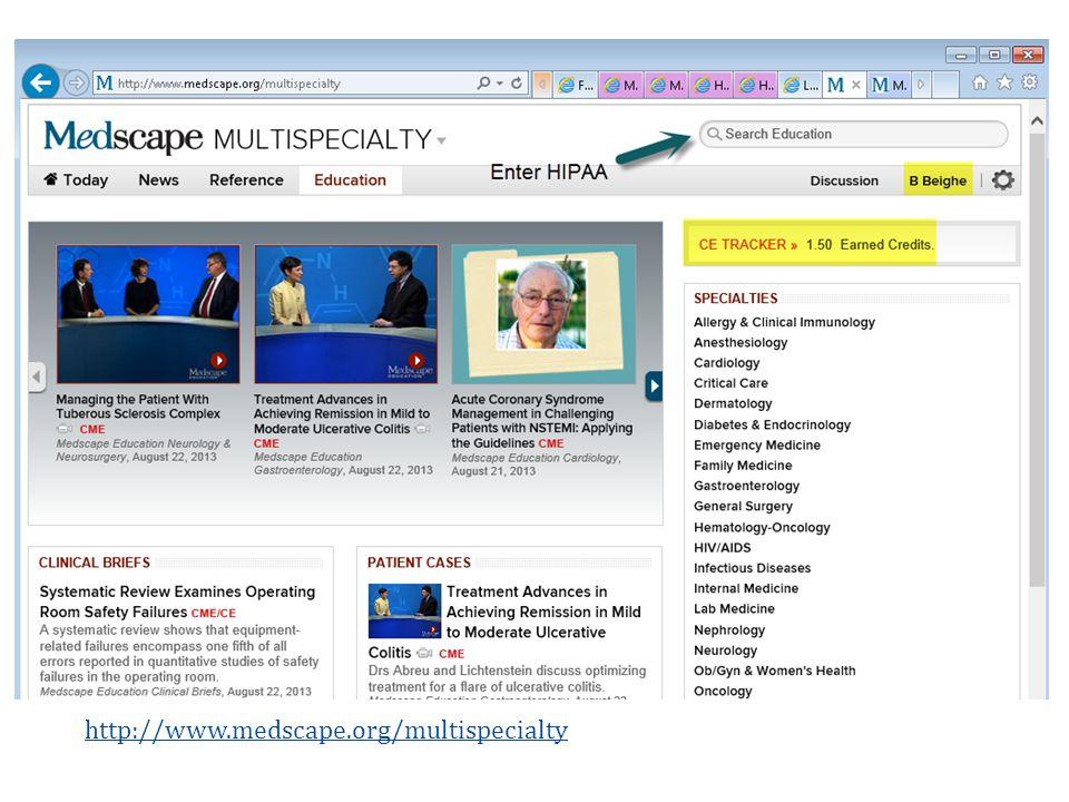 http://www.medscape.org/multispecialty