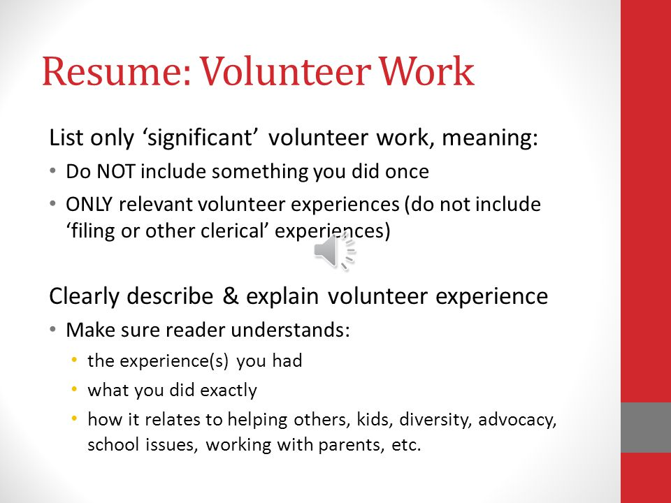 Resume: Employment Information Follow the EXAMPLE provided in the Directions.