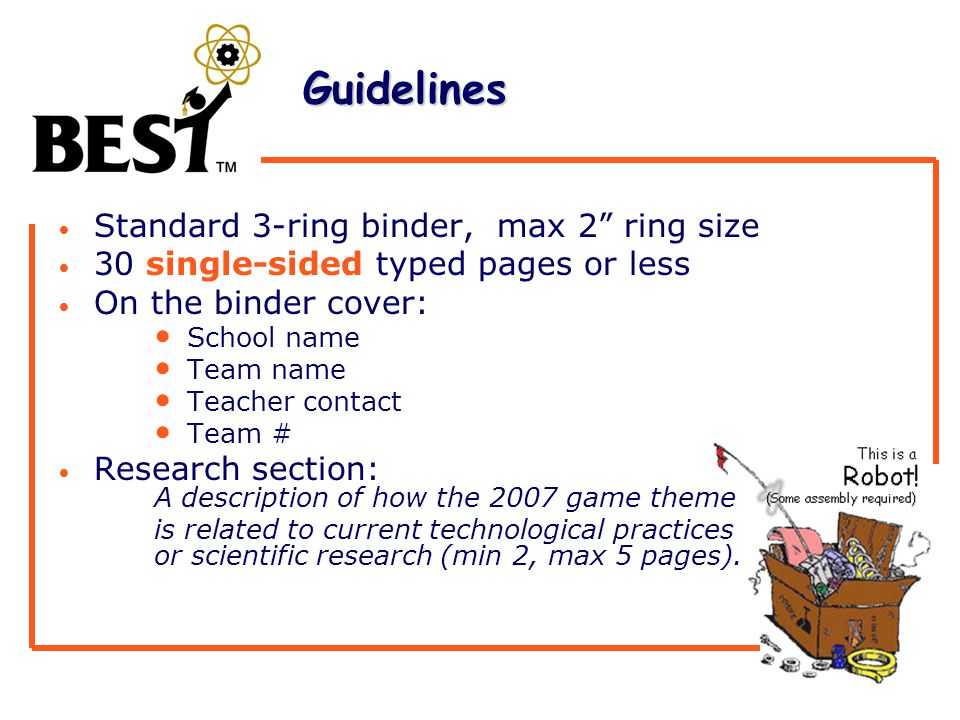 Guidelines Guidelines Use standard 81/2 X 11 paper, double spaced, using 1 margins, and a 12 pt.