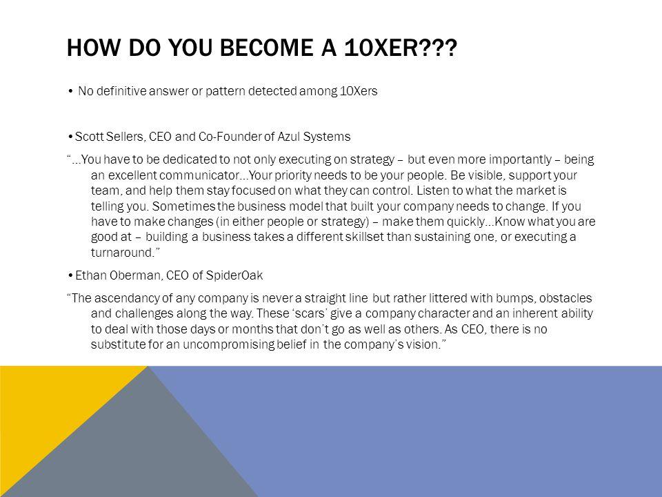 HOW DO YOU BECOME A 10XER??.