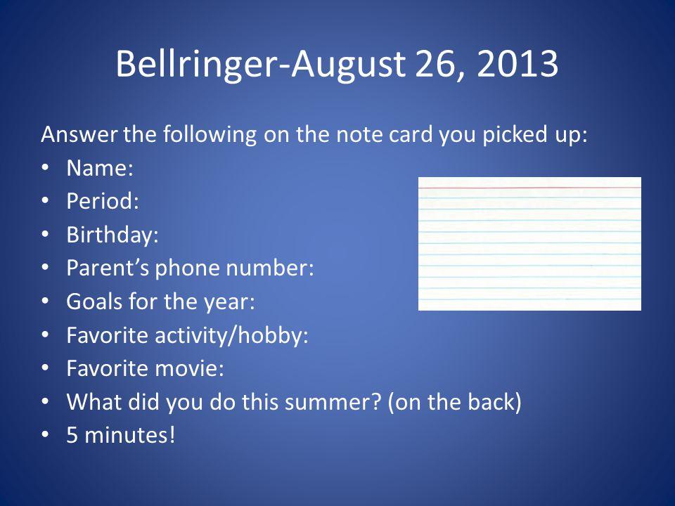 Bellringer-September 16, 2013 1)What % of fish species worldwide are endangered.