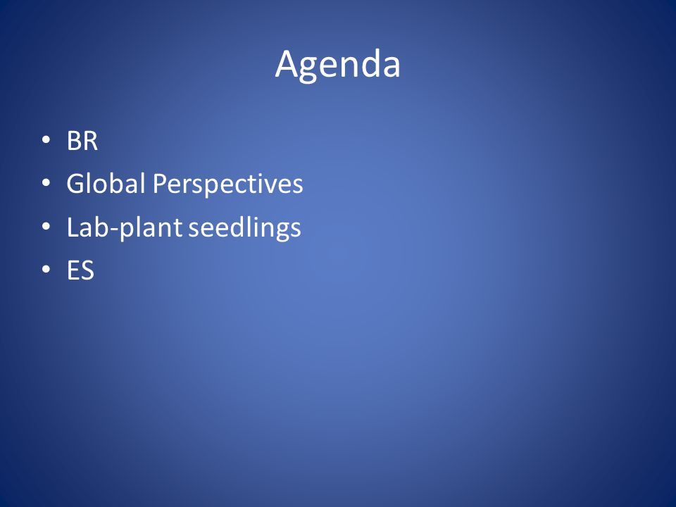 Agenda BR Global Perspectives Lab-plant seedlings ES