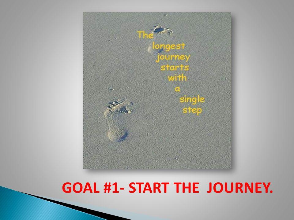 GOAL #1- START THE JOURNEY.
