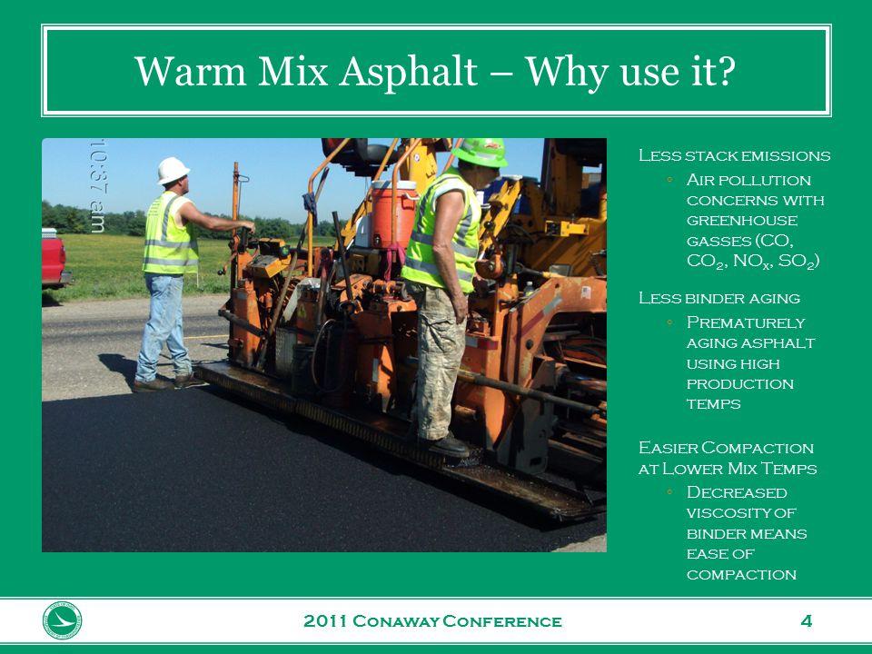 www.transportation.ohio.gov 5 Warm Mix Asphalt - How are we doing.