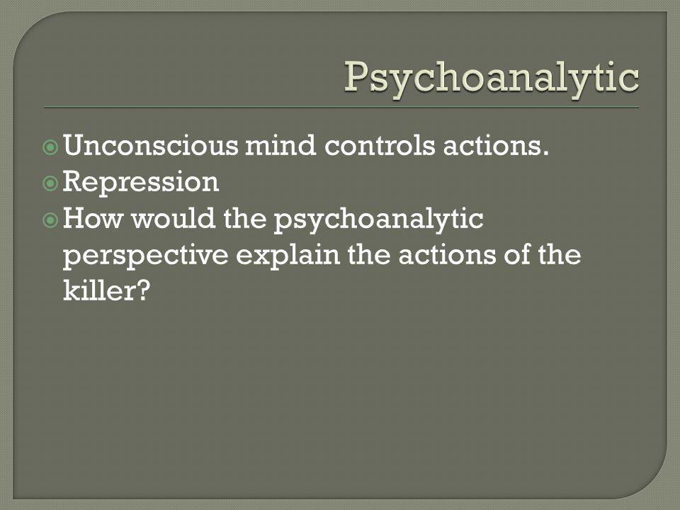  Unconscious mind controls actions.