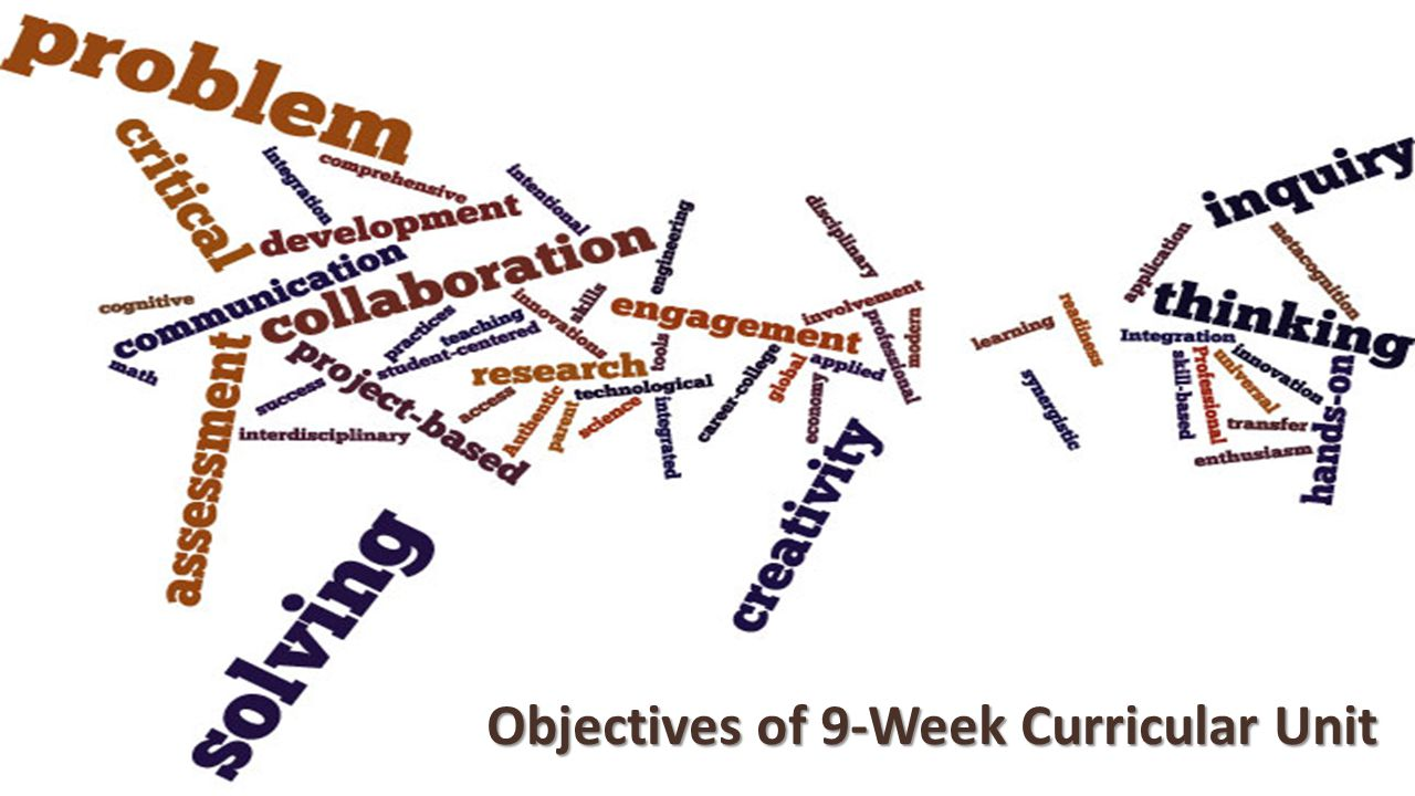 Objectives of 9-Week Curricular Unit
