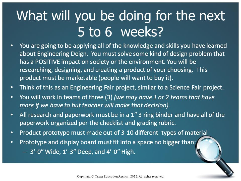 What will you be doing for the next 5 to 6 weeks.