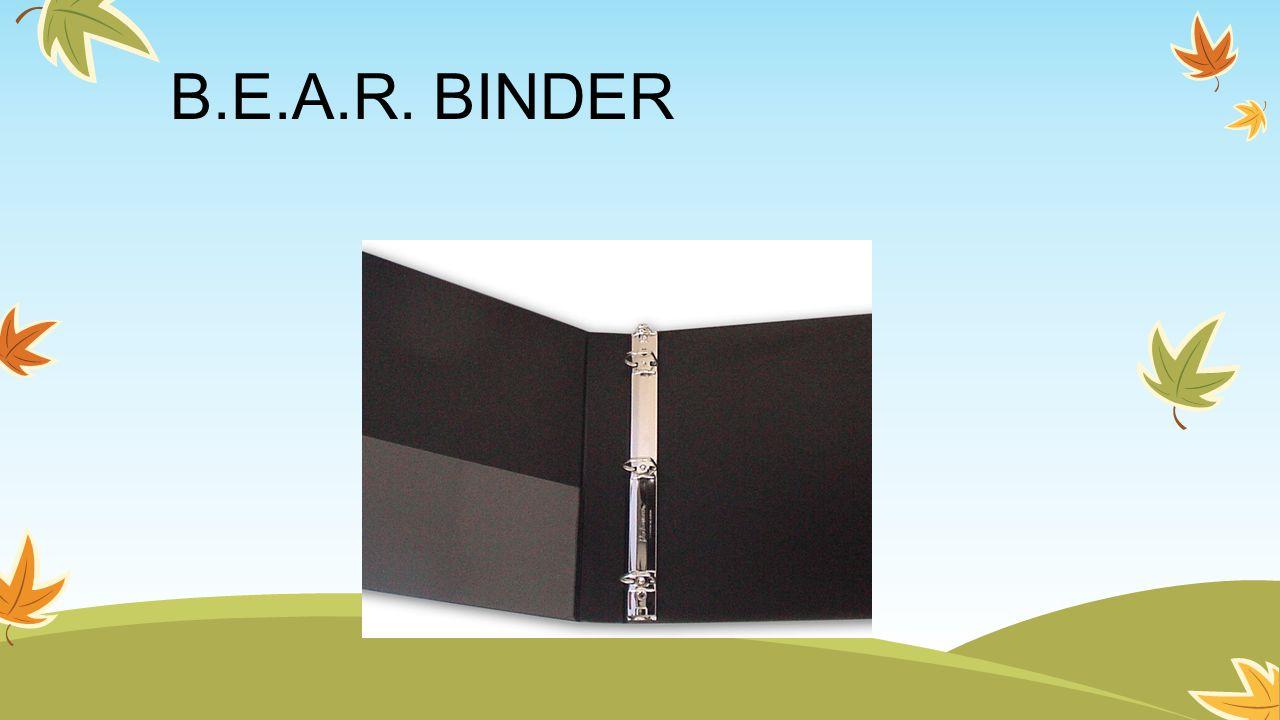 B.E.A.R. BINDER