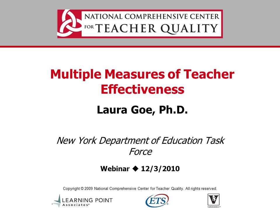 www.tqsource.org Example: Kim Marshall's Rubric Planning & Preparation for Learning Highly EffectiveEffectiveImprovement Necessary Does Not Meet Standards a.