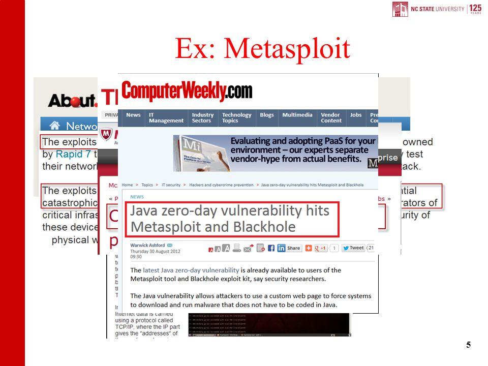 Ex: Metasploit 5