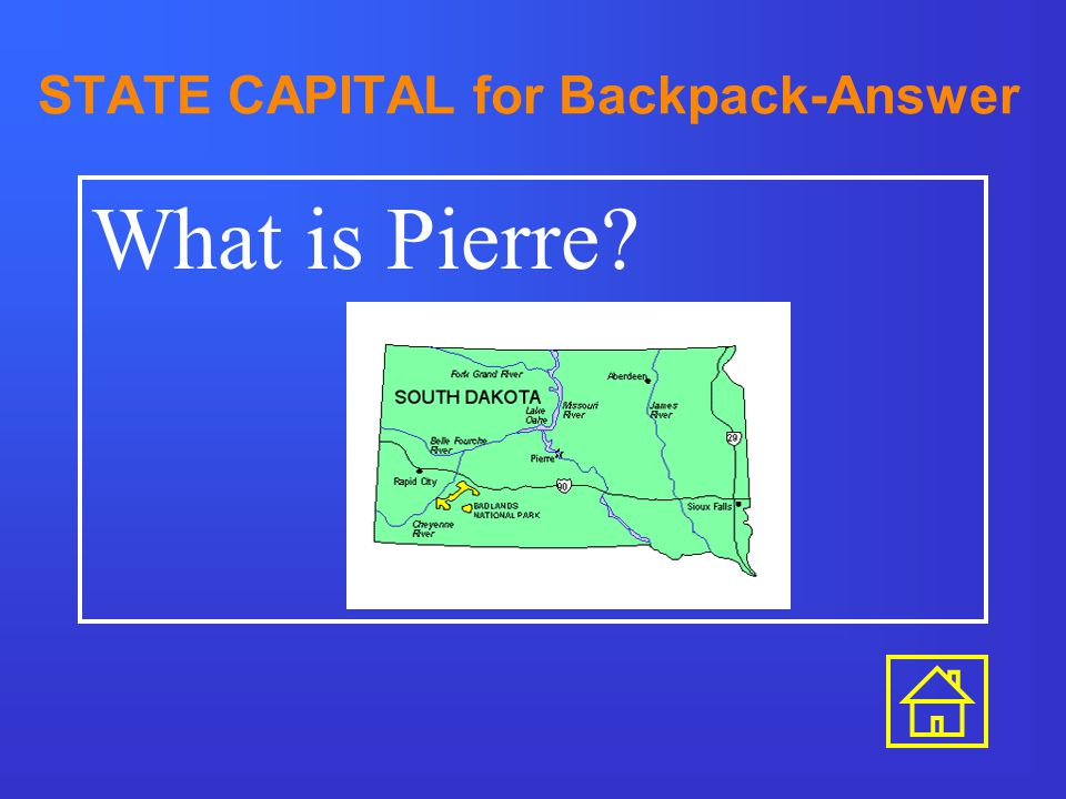 STATE CAPITAL for Ball Cap-Answer What is St. Paul?
