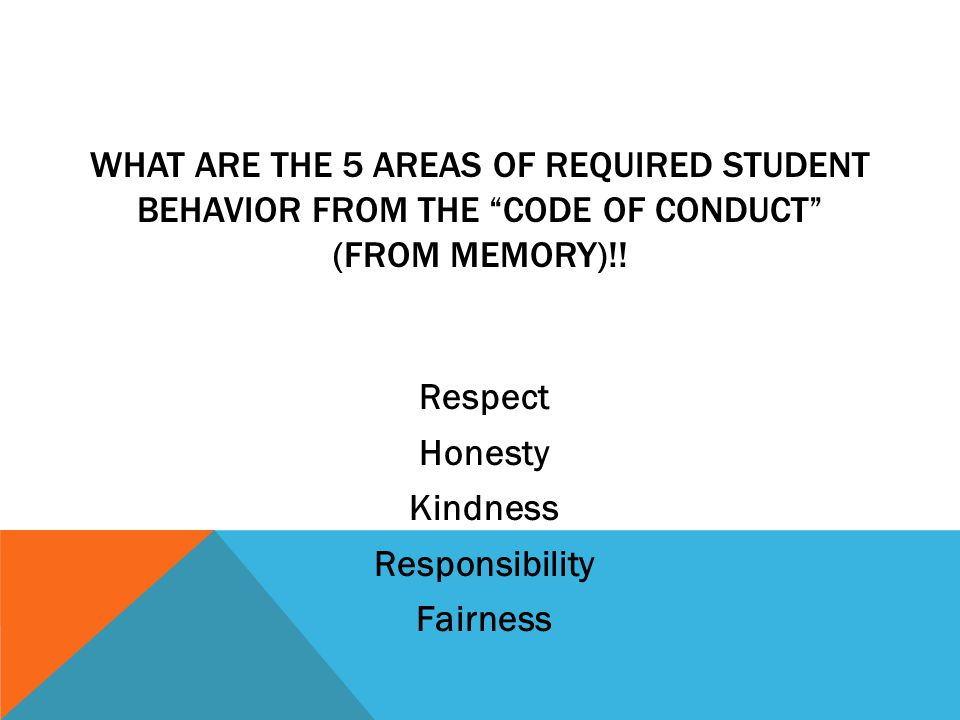 Class Expectations Follow behavior expectations!.Code of Conduct.