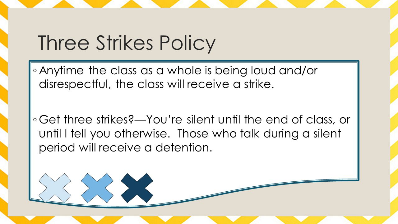 Detention Policy ◦ You will receive a detention for the following infractions: ◦ Eating/having food out in class ◦ Talking during a silent day ◦ Excessive tardies ◦ Disrespectful behavior ◦ Sleeping