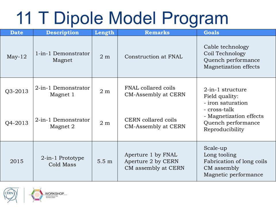 11 T Dipole Model Program