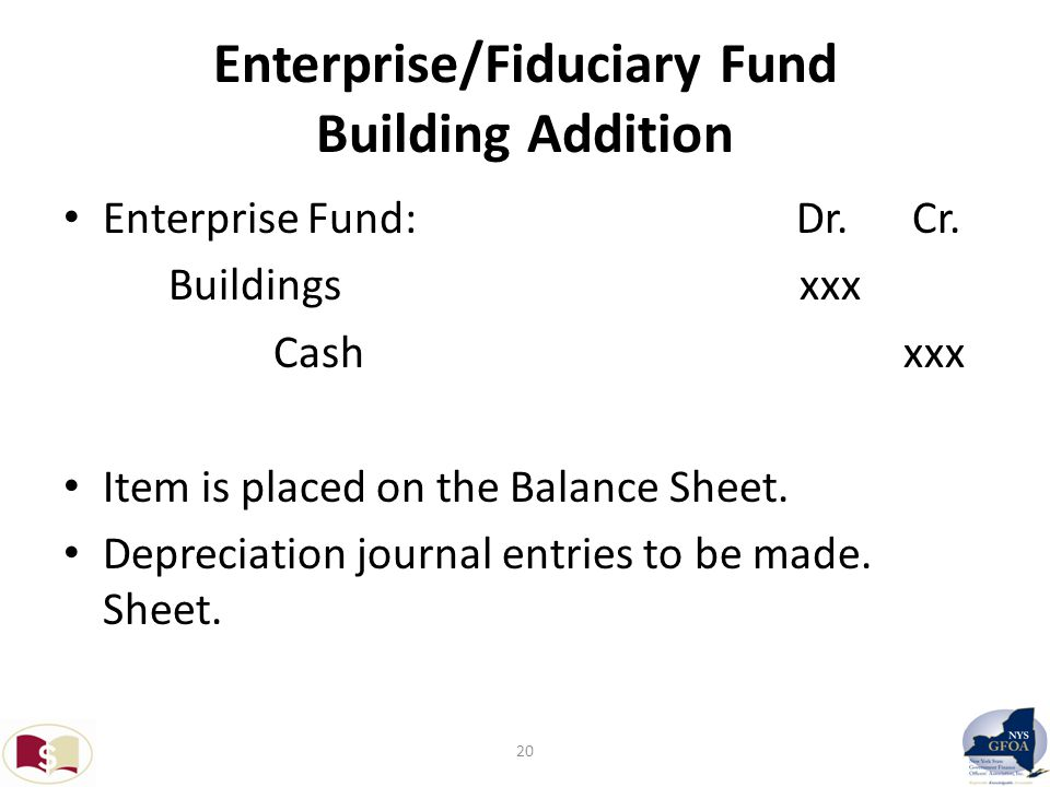 Enterprise/Fiduciary Fund Building Addition Enterprise Fund: Dr.