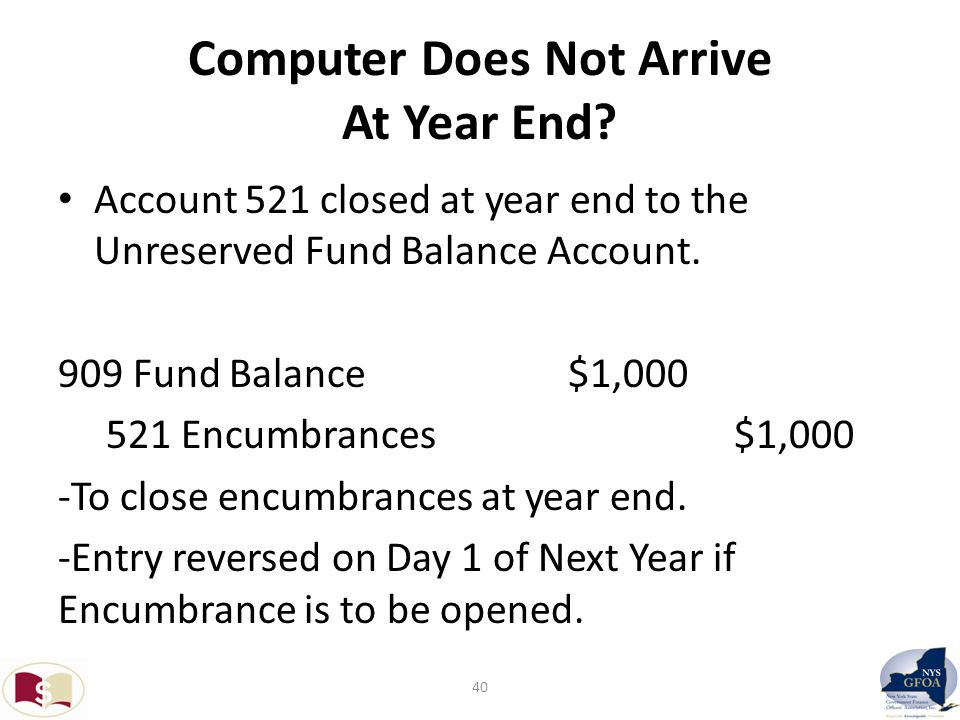 Computer Does Not Arrive At Year End.