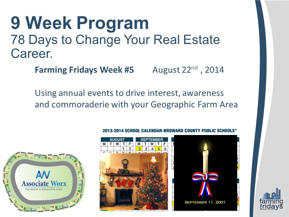 9 Week Program 78 Days to Change Your Real Estate Career.