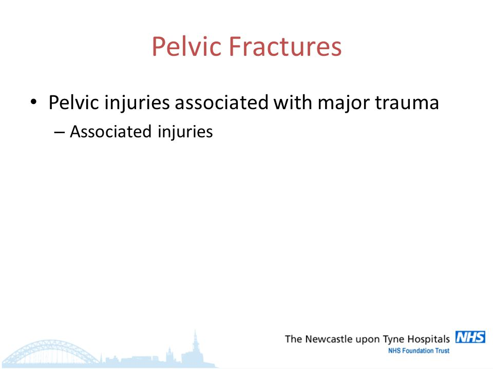 Pelvic injuries associated with major trauma – Associated injuries