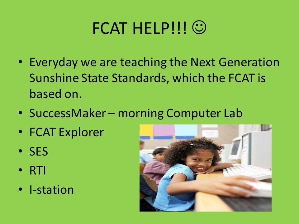 FCAT HELP!!.