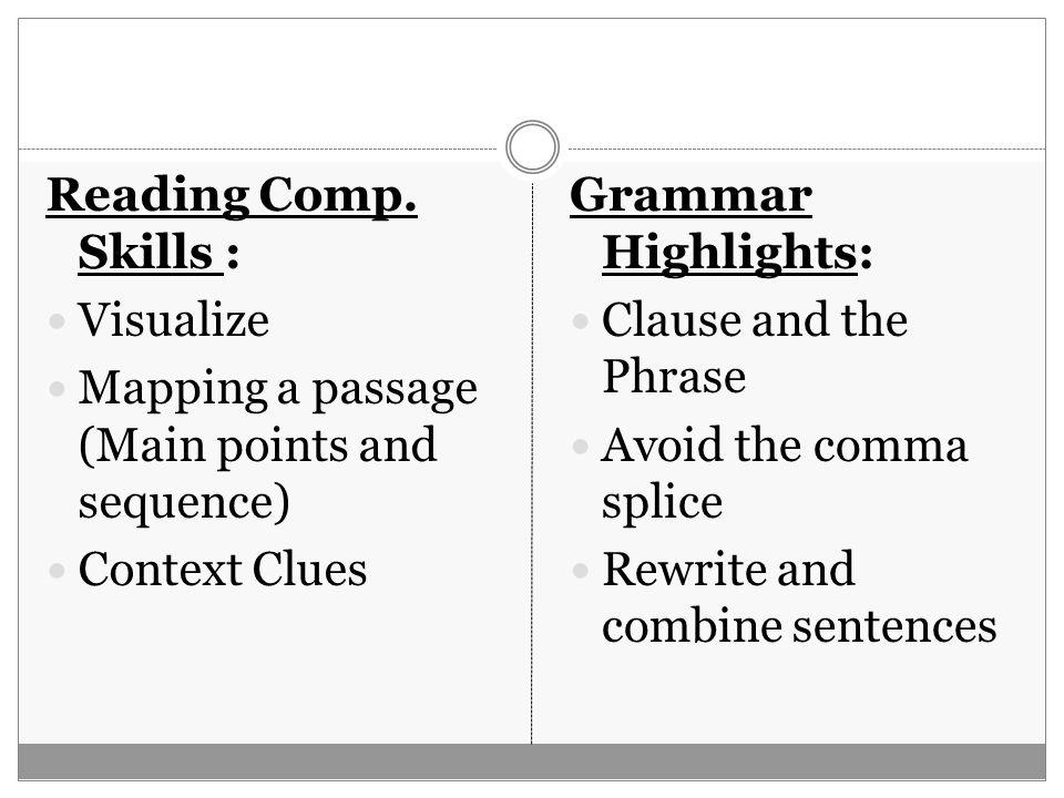Reading Comp.