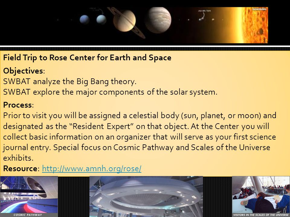  At the end of the unit, students will produce a mixed media science report on the solar system with a focus on one area of expertise.