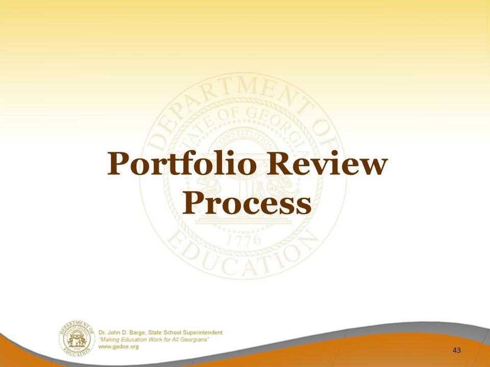Portfolio Review Process 43