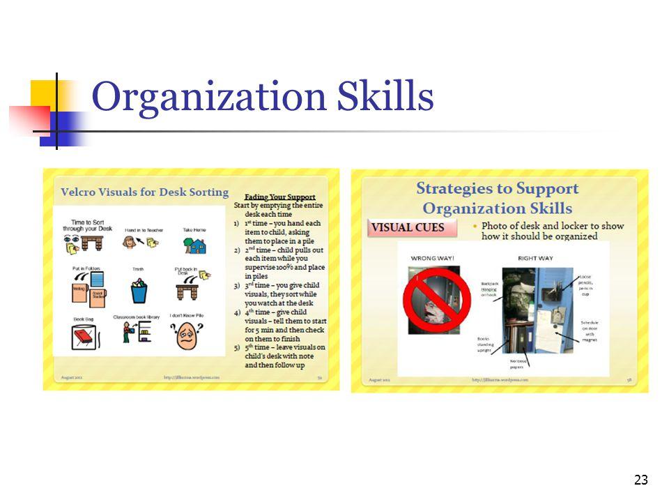 Organization Skills 23