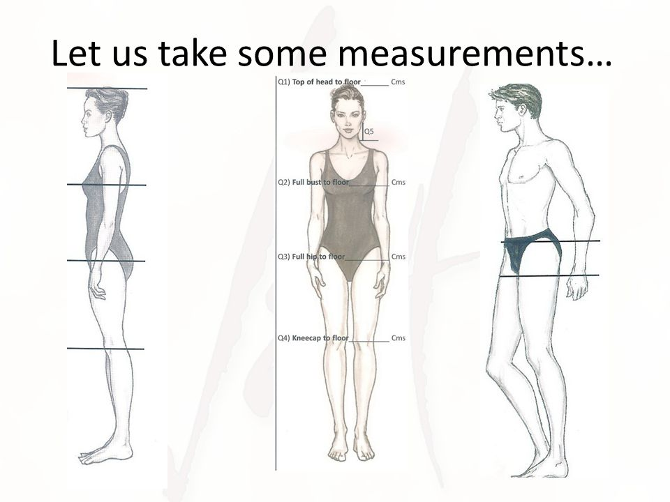 Let us take some measurements…