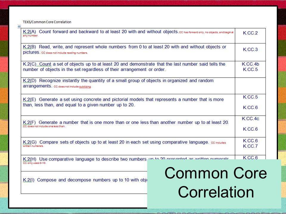Common Core Correlation