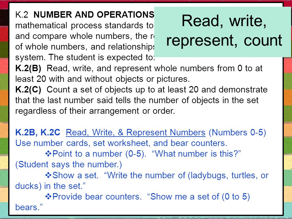 K.2 NUMBER AND OPERATIONS.