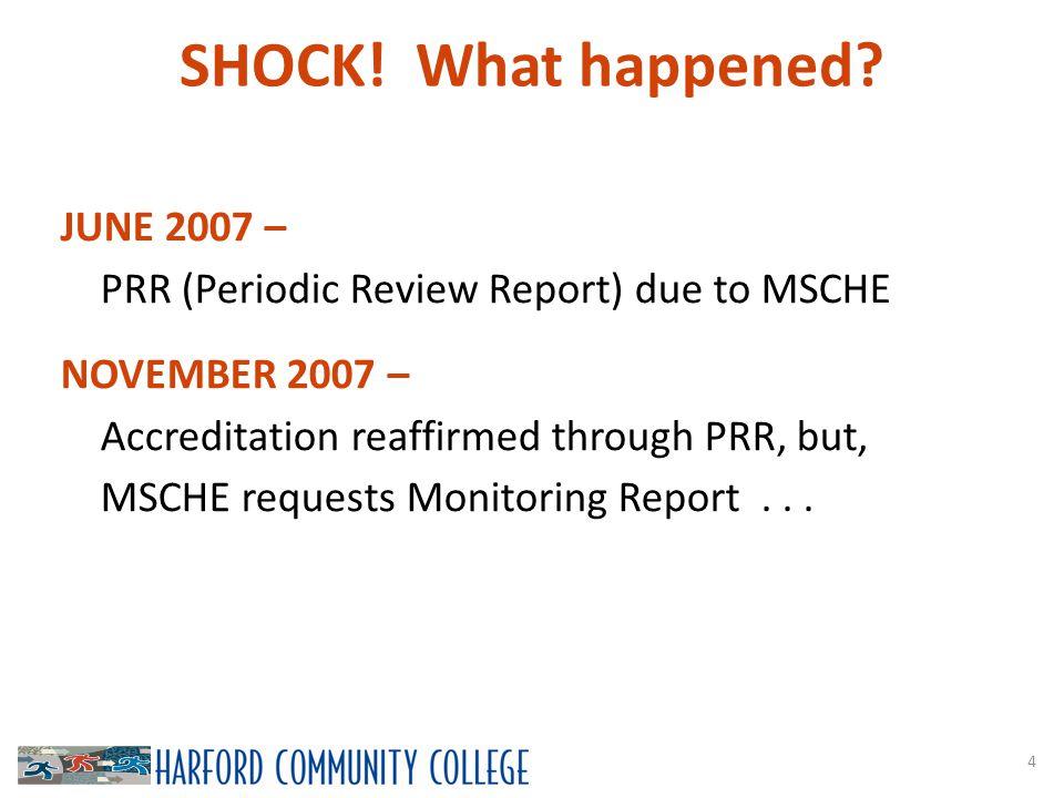 SHOCK. What happened.