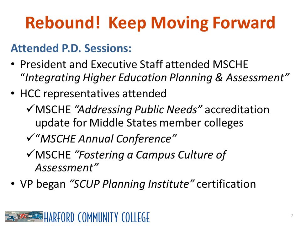Rebound. Keep Moving Forward 7 Attended P.D.
