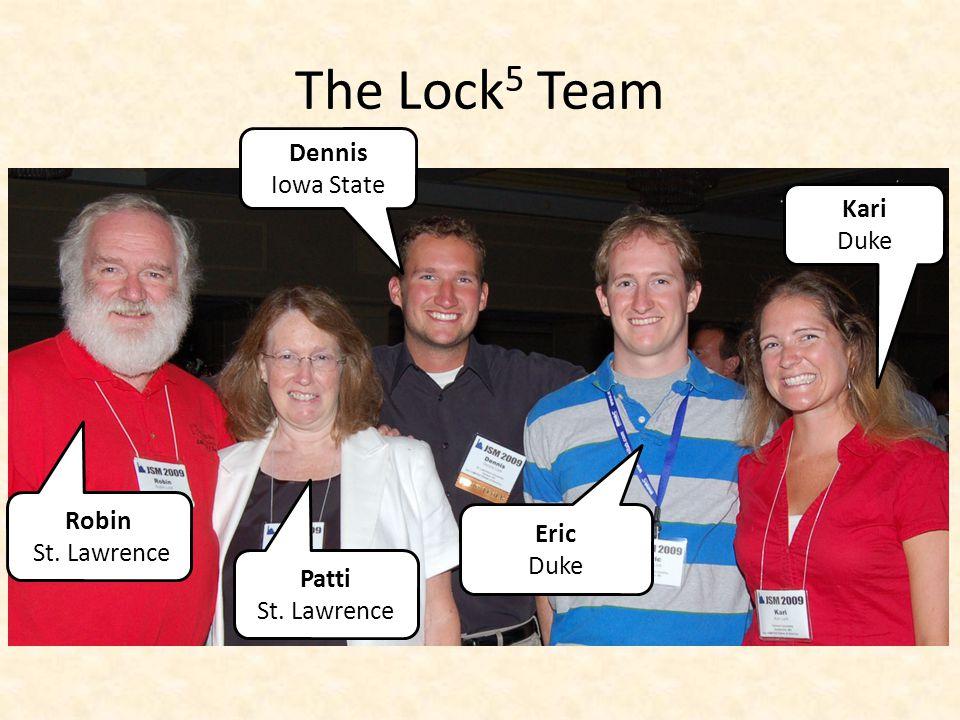The Lock 5 Team Robin St. Lawrence Dennis Iowa State Eric Duke Kari Duke Patti St. Lawrence