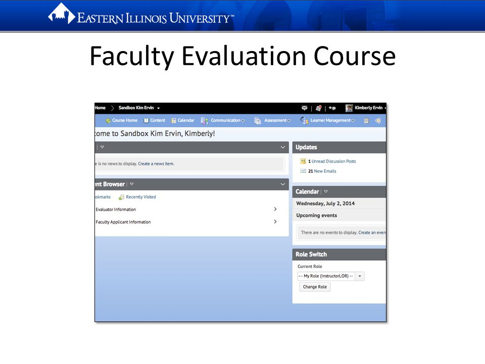 Faculty Evaluation Course