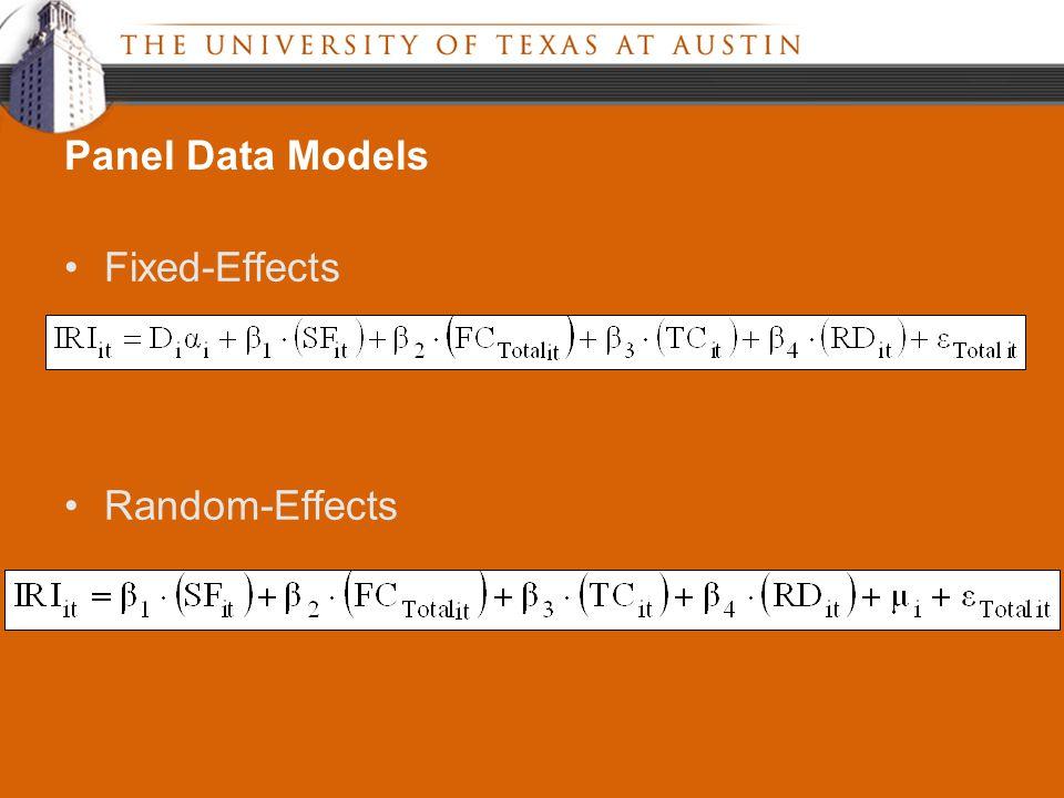 Fixed-Effects Random-Effects Panel Data Models