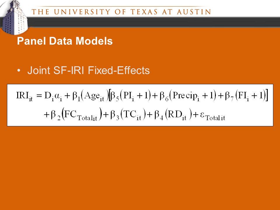 Joint SF-IRI Fixed-Effects Panel Data Models