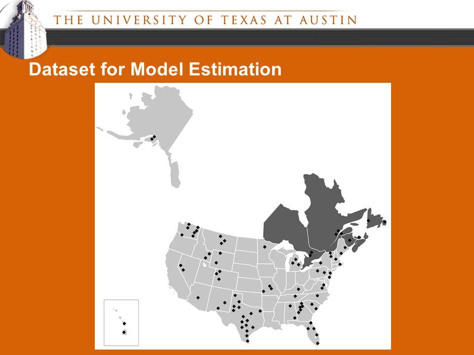 Dataset for Model Estimation