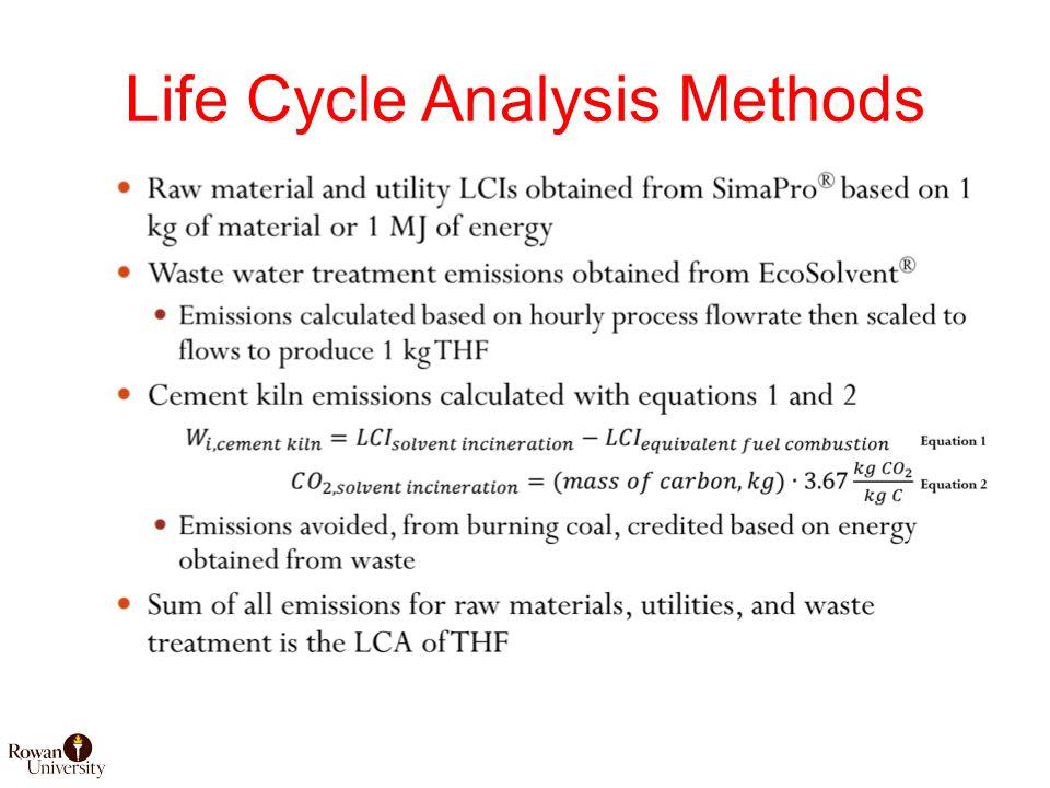 Life Cycle Analysis Methods