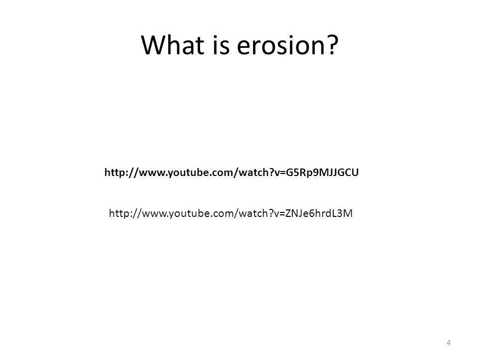 What causes erosion to happen.What are different kinds of erosion.