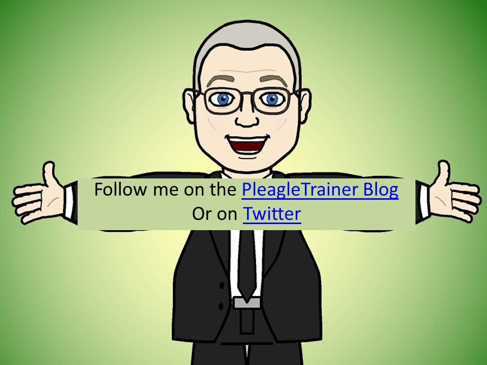 Follow me on the PleagleTrainer BlogPleagleTrainer Blog Or on TwitterTwitter