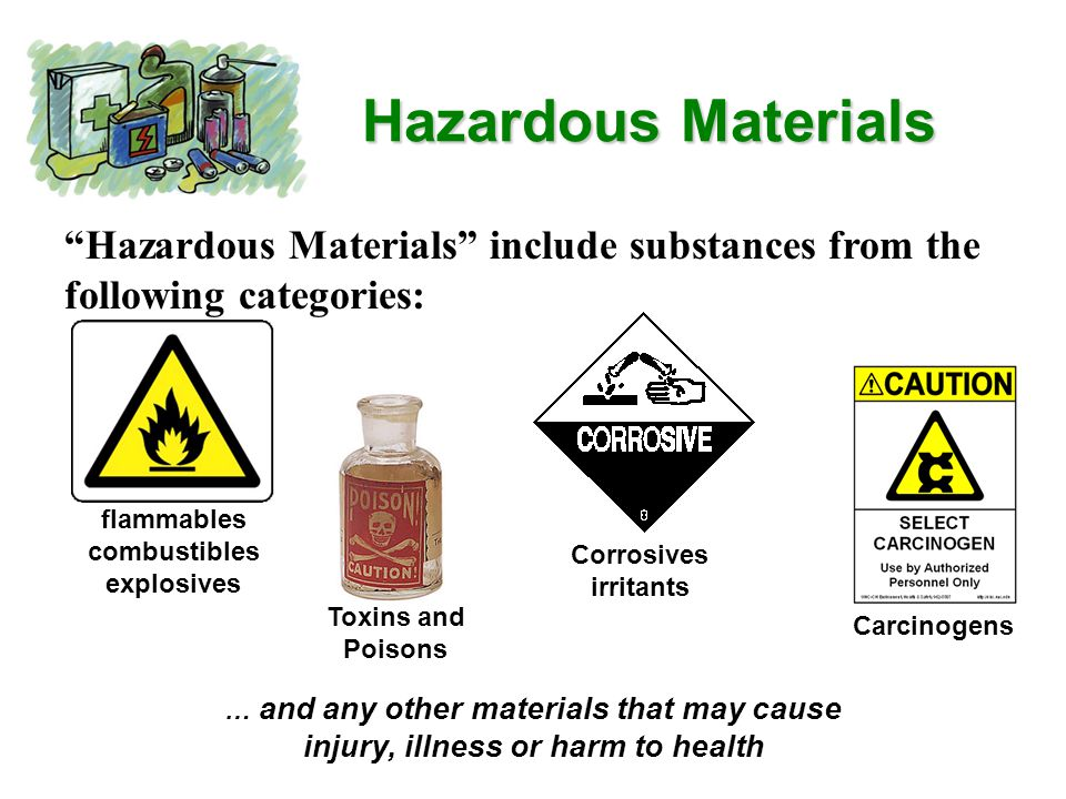 Hazardous Communication Plan Our Emergency Response Plan can be found with the Policies and Procedures binder addresses: Material Data Safety Sheets for hazardous substances present Labeling of hazardous materials in containers that are unmarked or poorly labeled Ways to minimize risk Actions to take in the event of an accident or exposure